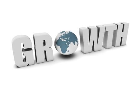 国の 3 d でグローバルな成長の概念