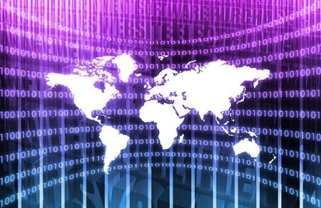 紫の抽象の世界的なネットワーク メディア