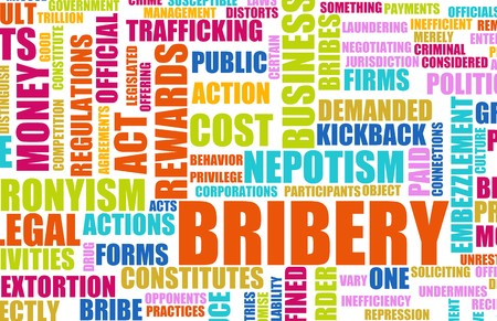 bribery: Bribery in the Government in a Corrupt System Stock Photo