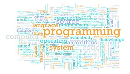 추상적 인 컴퓨터 프로그래밍 코드 개념