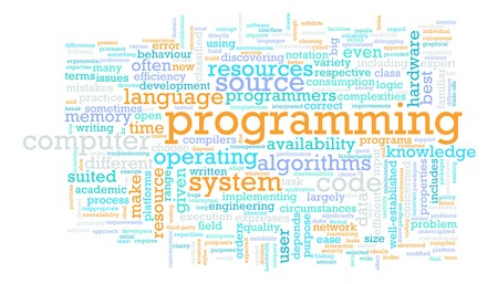 Computer Programming Code Concept as a Abstract photo
