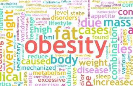 obesidad infantil: Concepto de obesidad del ser con sobrepeso y en mal estado a ra�z