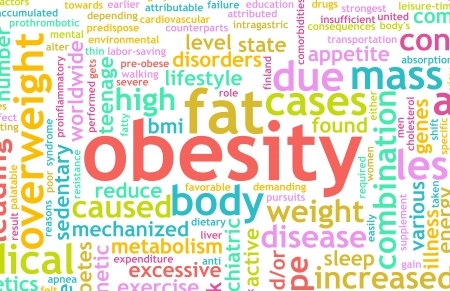 Obesity Concept of Being Overweight and Unhealthy photo