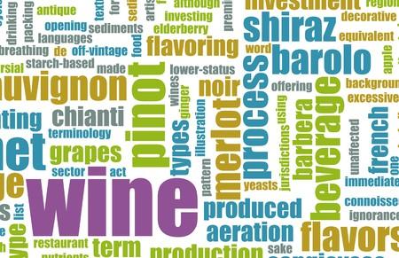 Wijnmenu Selectie Achtergrond als Concept