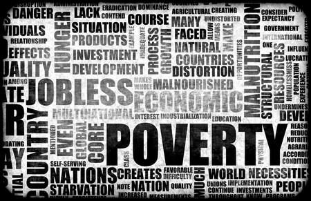 global problem: Fondo de Grunge de la pobreza en tonos duros negros Foto de archivo
