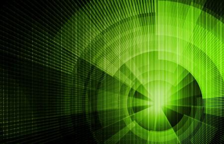 ハイテク未来の芸術とエレクトロニクスの背景