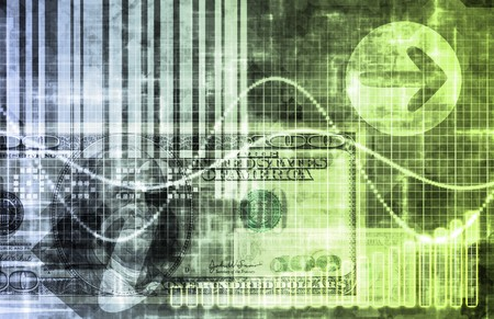 Blue Cyberspace Business System as Art Abstract Stock Photo - 6856688