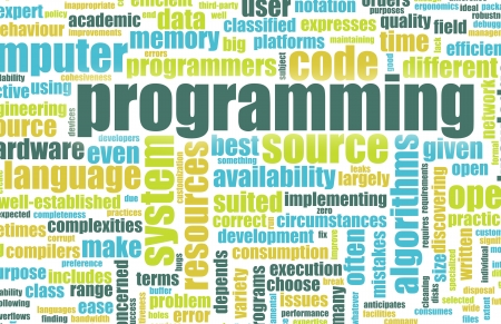 web development: Computer Programming Code Concept as a Abstract Stock Photo