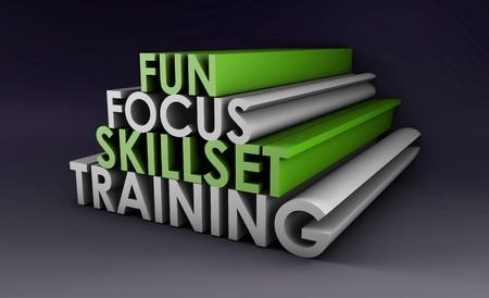 3 d でのスキルのトレーニング コースの焦点