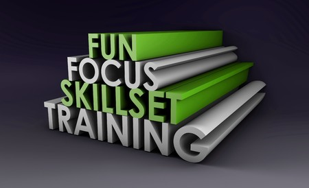 company: Training Course Focus on Skillset in 3d Stock Photo