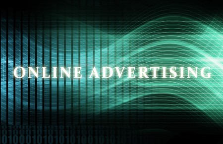 Online Advertising as a Concept Background Art photo