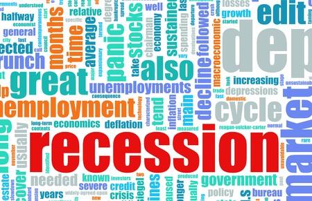 Recession Economic Concept Text Cloud Background Stock Photo - 6883382