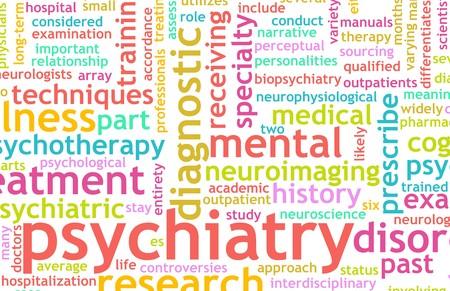 enfermedades mentales: Enfoque de la psiquiatr�a en enfermos mentales como concepto Foto de archivo