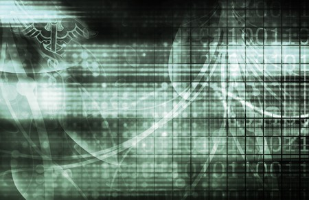 Technology Background as a Digital Abstract Art Stock Photo - 6883401