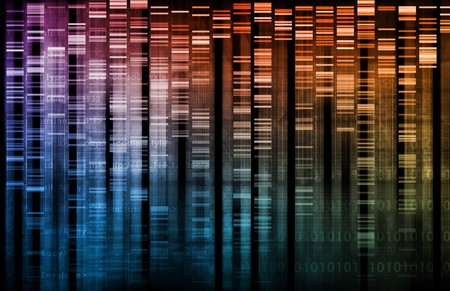 DNA Research of Science Genetic Data Background Stock Photo - 6883404