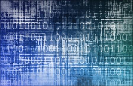 Blue Data Network Internet Tech Abstract Art Stock Photo - 6883418