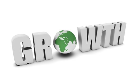 Global Growth Concept in 3d of a Country Stock Photo