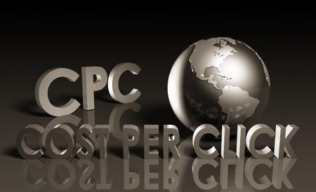 CPC Cost Per Click Web Advertising as a Concept photo
