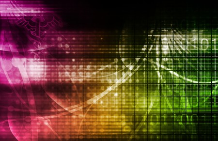 Technology Background as a Digital Abstract Art Stock Photo - 6898008