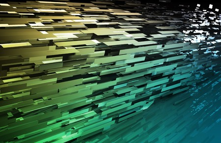 scientific: Abstract Geometric Background with a 3d Data Art