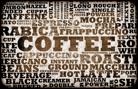 coffee: Coffee Menu Choices as a Creative Background