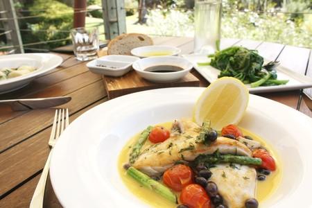 魚介と野菜のグルメ食品料理 写真素材