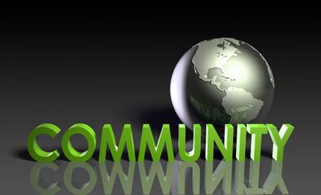 community service: Global Community Concept of Online Forum Art