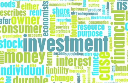 抽象として財務リターンの投資