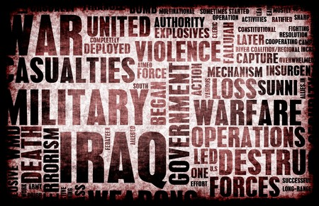 coalition: Iraq War as a Grunge Abstract Background
