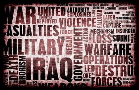 antiwar: Iraq War as a Grunge Abstract Background