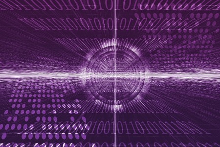 Futuristic Technology Data Flow Color Digital Abstract Stock Photo - 6922236