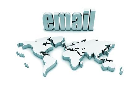 Email Corporate Concept in 3d Futuristic Art