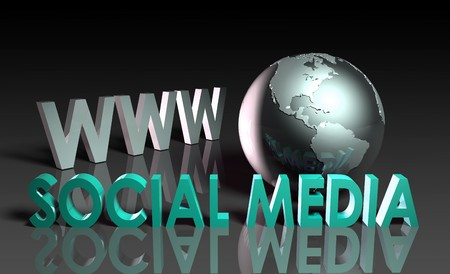 international internet: Social Media of Online Content on the Web Stock Photo