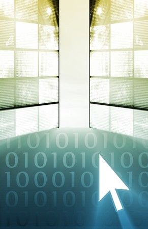 online privacy: Futuristic Technology Data Flow as Art Abstract Stock Photo