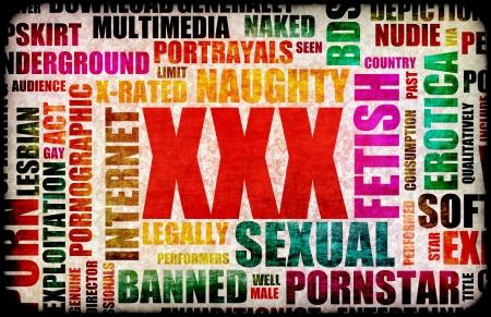 XXX Porn Sex Industry Concept Grunge Background photo