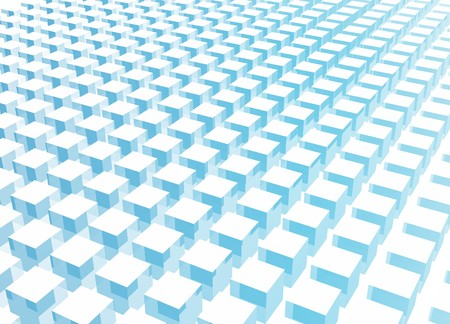 Simple and Clean Block 3d Abstract Background in Blue photo