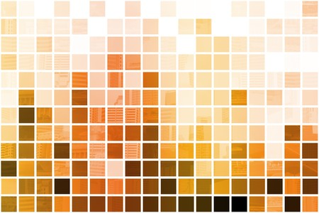 Orange Cubic Professional Abstract Background in Clean Squares Stock Photo - 6940017