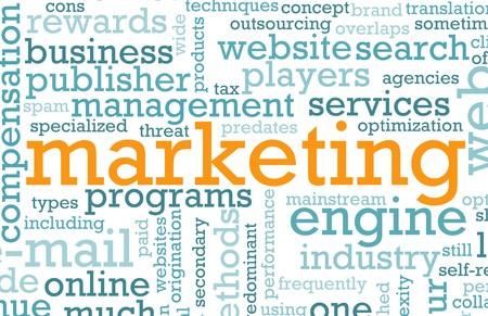Estrategia de marketing de la Web de un negocio online Foto de archivo - 6940555