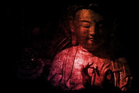 buddha image: Chinese Temple Abstract Background Wallpaper in Color Tones