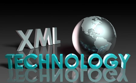 xml: XML Technology Internet Abstract as a Concept  Stock Photo