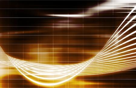 Orange Data Network Internet Tech Abstract Art photo