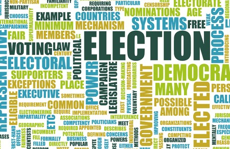 voter registration: Election Process Campaign as a Concept Background