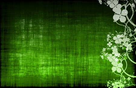 Green Grunge Floral Decor Old Texture Background Stock Photo - 6972707