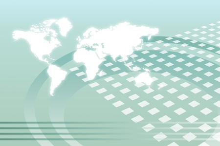 Corporate Worldwide Growth Abstract Background With Map photo