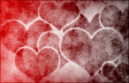 abstract art: Hearts Love Abstract Background as a Art Stock Photo
