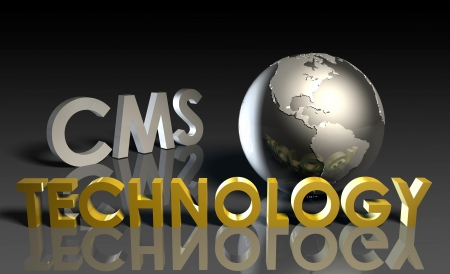 time sharing: CMS Technology Internet Abstract as a Concept  Stock Photo