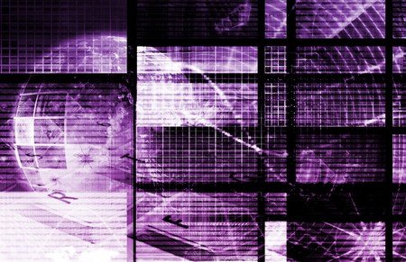Purple Digital Dream on the Internet Background photo