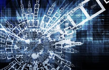 디지털 추상 데이터 미디어 예술