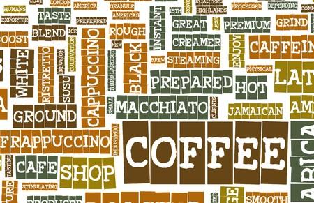 coffee beans: Coffee Menu Choices as a Creative Background