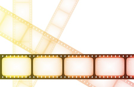 TV Channel Movie Guide on Abstract Background Фото со стока
